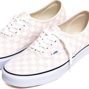 VANS Checkerboard Authentic Chalk Pink Sneakers